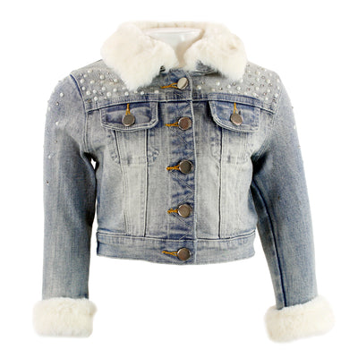 Denim Jacket Faux Fur