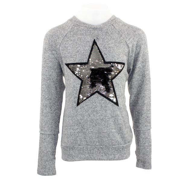 Long Sleeve Hacci Sequin Patch
