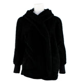 Plush Open Hooded Cardigan