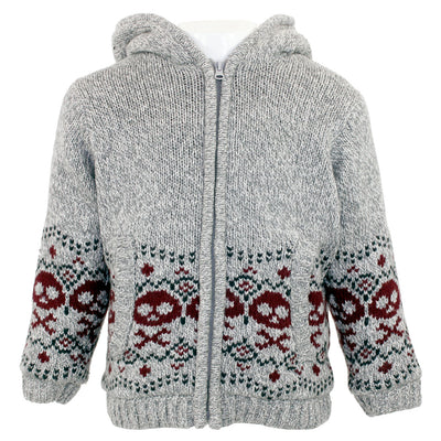 Sweater with Red Skulls