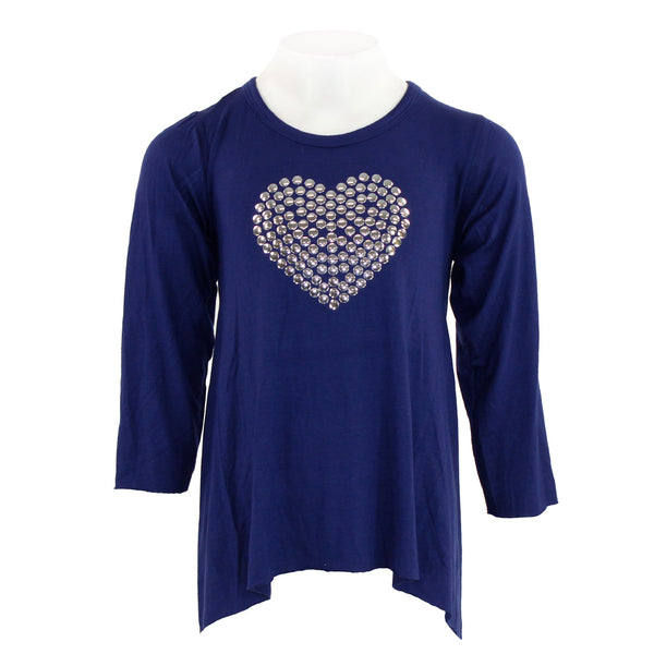 Long Sleeve Angle with Silver Disk Heart