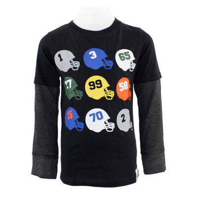 Football Helmets Layer Tee