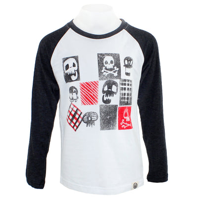 Skull Long Sleeve Raglan