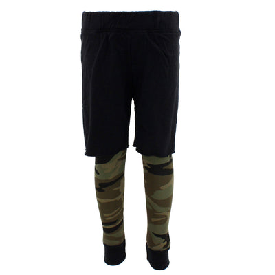 Layered Thermal Short with Camo Leg