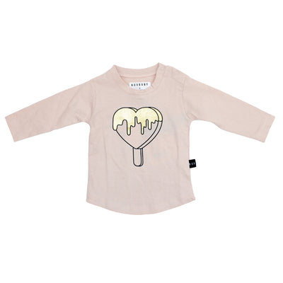 L/S Tee Gold Heart Pop