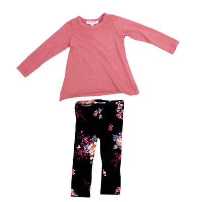 2pc Set Floral Legging