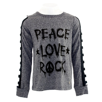 Long Sleeve Top Peace Love Rock