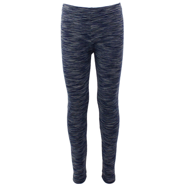 Navy and Grey Space Dye Legging