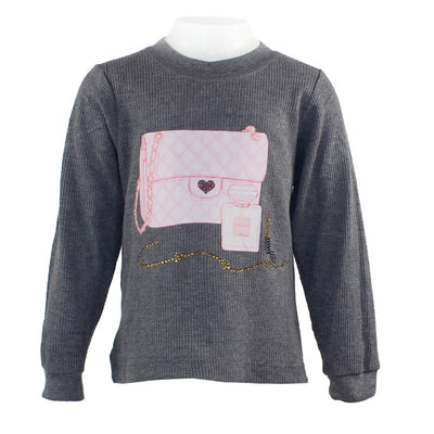 L/S Thermal w Pink Hrt Bag