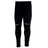 Legging w Gold Slits
