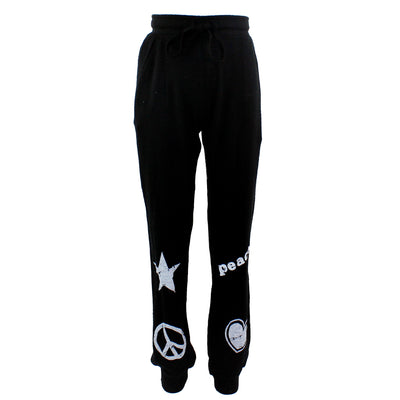 Hacci Pant with White Icons