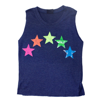 Muscle Tank with Neon Stars