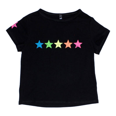 Baby Doll Top with Neon Stars