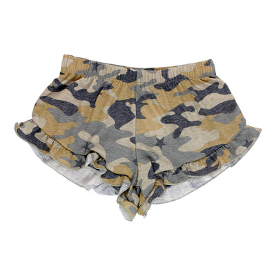 Camo Star Ruffle Short