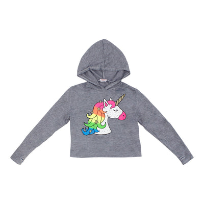 Crop Hoodie with Unicorn