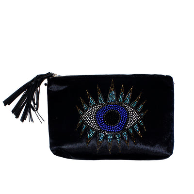 Clutch with Crystal Eye