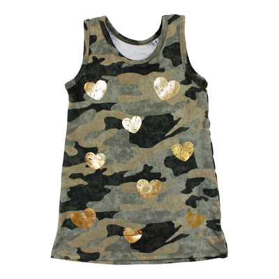 Tank Dress with Hearts