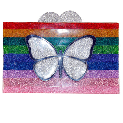 Butterfly Lucite Box Bag