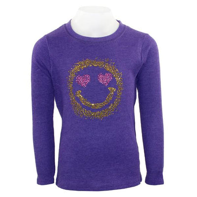Long Sleeve Thermal with Heart Smiley