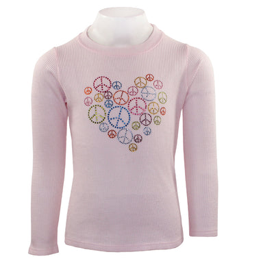 Long Sleeve Thermal with Heart and Peace