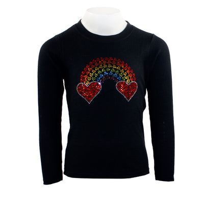 Long Sleeve Thermal with Rainbow Heart