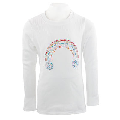 Long Sleeve Thermal with Rainbow Peace