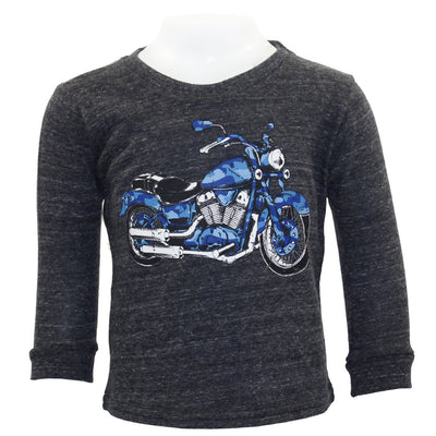 Long Sleeve Tee Camo Motorcycle
