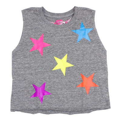 Muscle Tee with All Over Neon Stars