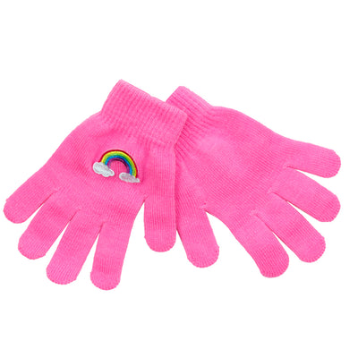 Rainbow Patch Gloves - Fits Sizes 7-14