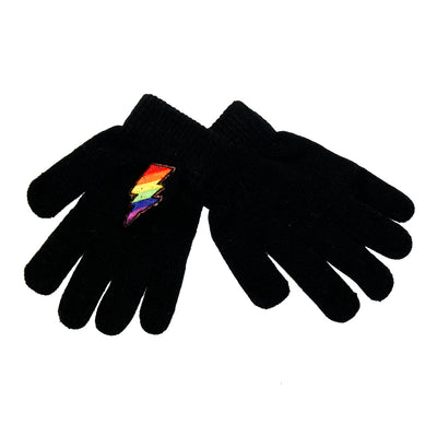 Lightning Bolt Patch Gloves - Fits Sizes 7-14