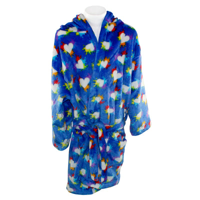 Splatter Hearts Plush Robe