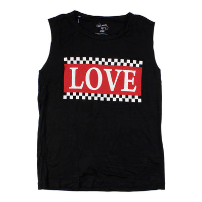 Tank With Love Red And White Checker