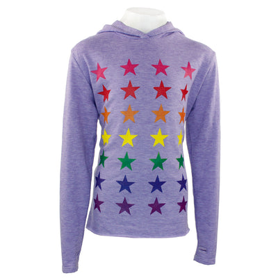 Long Sleeve Hoody with All Over Stars