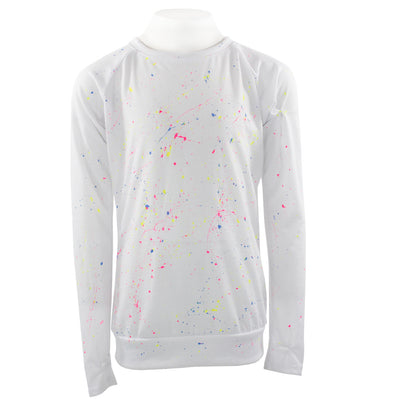 Long Sleeve Top with Splatter