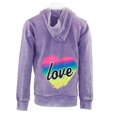 Zip Hoody with Love Hearts