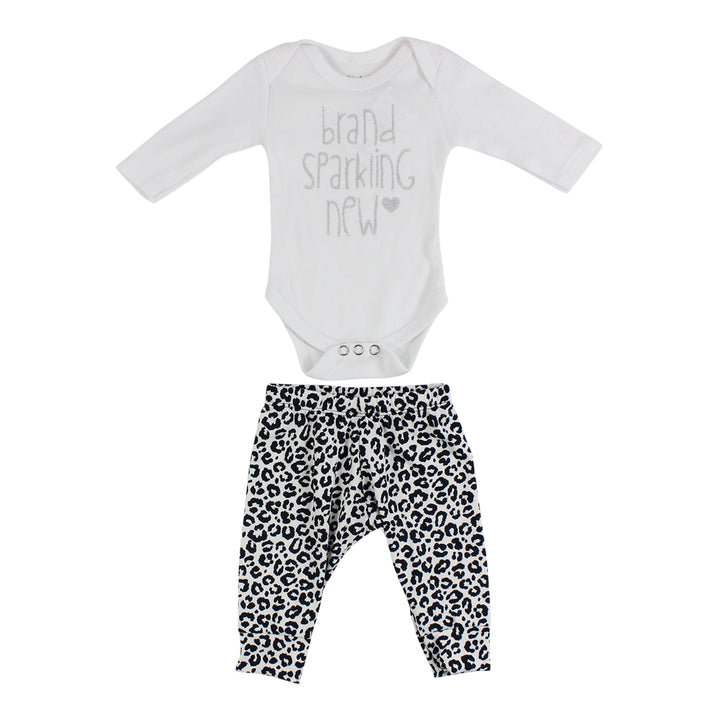2 Piece Take Home Black / White Cheetah