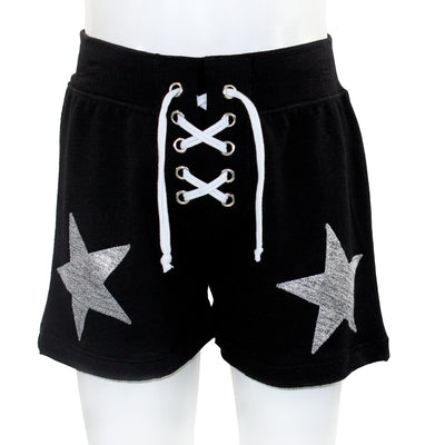 Lace Up Short With Silver Stars