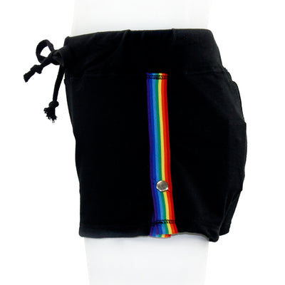 Rainbow Short with Stripe and Snaps