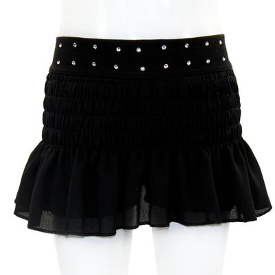 Smocked Skort with Stud Trim