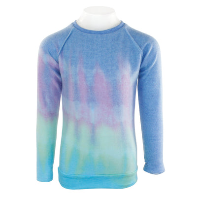 Long Sleeve Reversible Sweatshirt with Diagnal Tye Dye