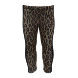 Leopard Legging with Stripe