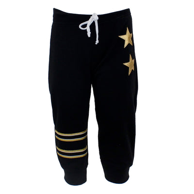 Push Up Pant with Gold Star and Stripes