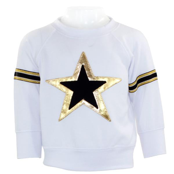 Long Sleeve Tee with Gold & Black Star