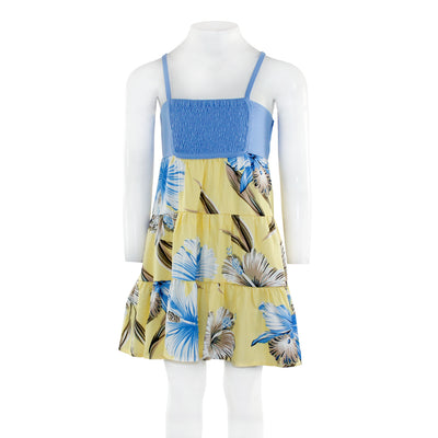 Lulu Dress Pale Yellow With Sky