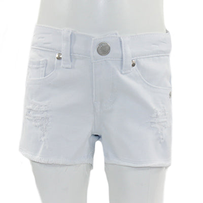 5 Pocket Fray Edge Denim Short with Rips
