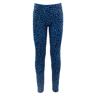 Blue Leopard Legging