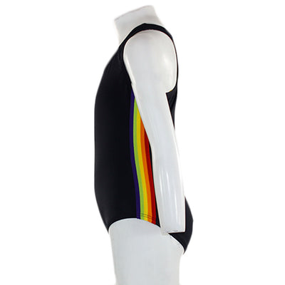 One Piece Bathingsuit with Rainbow Stripe