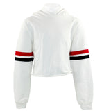 Long Sleeve Athletic Sleeve Stripe Hoody