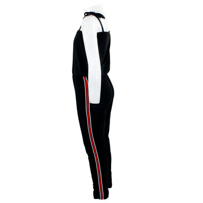 Jumpsuit with Red Sport Stripe