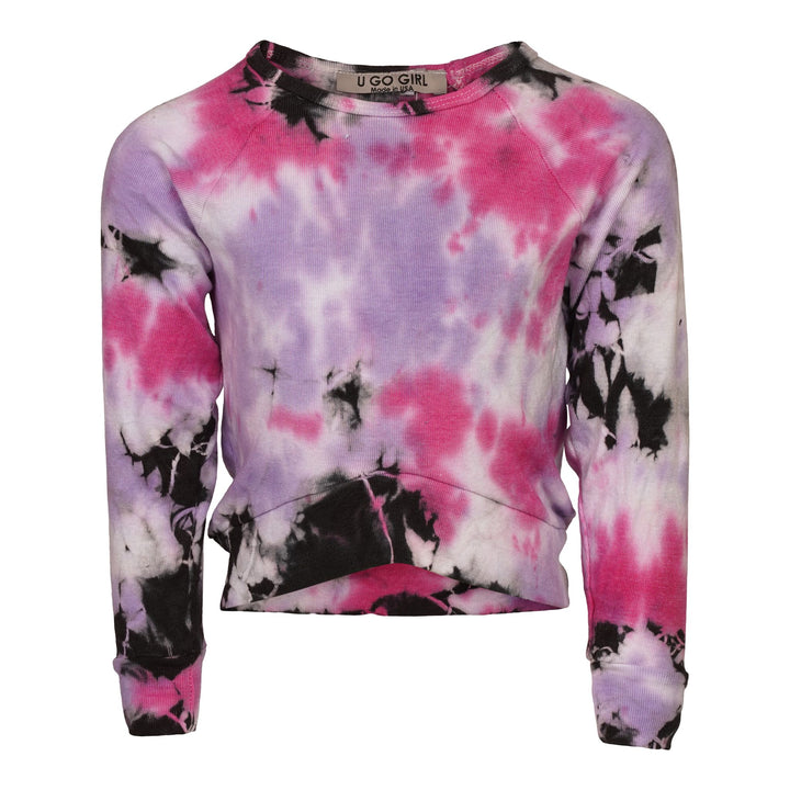 Fuchsia, Purple & Black Tie Dye Hi-Lo Shirt